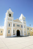 Église jaune images stock