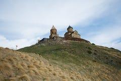 Église, la Géorgie, Mzcheta-Mtianeti, Qasbegi, Stepanzminda, le K images libres de droits