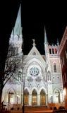 Église la nuit illustration stock
