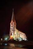 Église la nuit Photographie stock