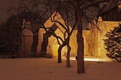 Église la nuit Image libre de droits