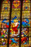 Église levée Schlosskirche Witten de Jesus Stained Glass All Saints photo libre de droits
