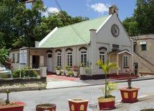 Église locale sur la côte ouest des Barbade Images stock