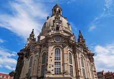 Église luthérienne Dresde Frauenkirche à Dresde, Allemagne Images stock