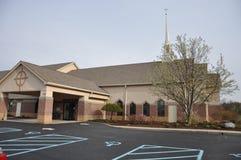 Église luthérienne et école maternelle de Messie chez Eagle Creek photo libre de droits