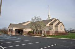 Église luthérienne et école maternelle de Messie chez Eagle Creek photographie stock libre de droits