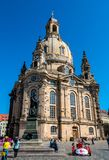 Église luthérienne Frauenkirche à Dresde, Allemagne photographie stock libre de droits