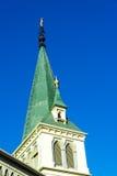 Église luthérienne verte Photographie stock libre de droits