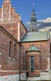 Église médiévale dans la vieille ville de Riga, Lettonie Image libre de droits