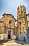 Église médiévale de St Andrea, Orvieto, Italie Photographie stock libre de droits