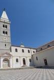 Église médiévale, Rab Croatia image stock