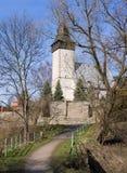 Église médiévale, Siedlecin, Pologne Photo libre de droits