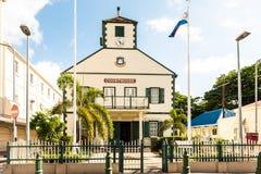 Église méthodiste sur Main Street de Philipsburg dans le péché Maarten photo stock