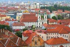Église Mariahilf de Graz Photos stock