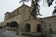 Église merveilleuse convertie dans l'hôtel du tourisme en Santo Domingo De La Calzada Architecture, voyage, histoire images libres de droits