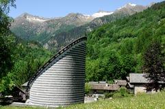 Église, Mogno, Ticino, Suisse Images libres de droits