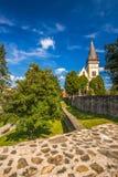 Église monumentale de St Aegidius au vieux centre de la ville de Bardejov Photos stock
