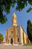 Église néogothique de John l'évangéliste dans Valtura Images libres de droits