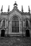 Église noire et blanche Image stock
