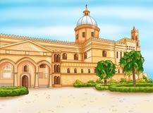 Église normande à Palerme, Sicile Photo stock