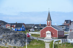 Église Nuuk, Groenland Photographie stock