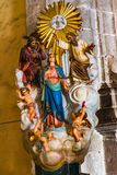?glise Oaxaca Mexique de Mary Jesus God Statue Templo de la Compania images stock
