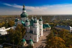 Église orthodoxe antique dans la ville de Tchernigov, Ukraine images libres de droits