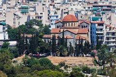 Église orthodoxe Athènes Grèce d'Agia Triada Photos stock