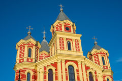 Église orthodoxe colorée Images stock