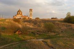Église orthodoxe détruite Image stock