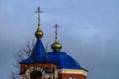 Église orthodoxe dans la région de Kaluga (Russie) photo libre de droits