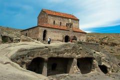 Église orthodoxe dans le complexe d'Uplistsikhe Image libre de droits