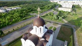 Église orthodoxe de l'icône de la mère de Dieu banque de vidéos