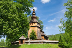 Église orthodoxe en bois dans Kotan, Pologne Photographie stock libre de droits