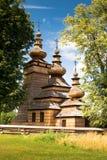 Église orthodoxe en bois dans Kwiaton, Pologne Images libres de droits