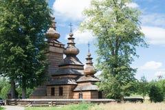 Église orthodoxe en bois dans Kwiaton, Pologne Photos stock