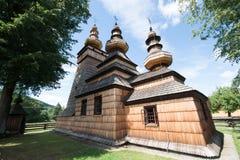 Église orthodoxe en bois dans Kwiaton, Pologne Image libre de droits