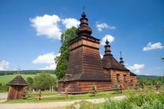 Église orthodoxe en bois dans Skwirtne, Pologne Images stock
