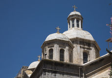 Église orthodoxe en fonction par l'intermédiaire de de la Rosa à Jérusalem. Photographie stock