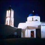 Église orthodoxe, Grèce, nuit photo stock