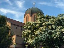 Église orthodoxe grecque d'annonce, Stamford, le Connecticut Photos stock