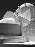Église orthodoxe grecque en noir et blanc Images libres de droits