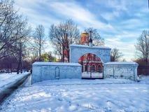 Église orthodoxe, hiver, neige, Moscou Russie image libre de droits