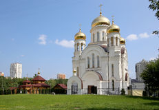 Église orthodoxe moderne à Moscou, Russie Photo libre de droits