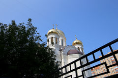 Église orthodoxe moderne à Moscou, Russie Image stock