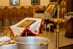 Église orthodoxe moldove intérieure Photos stock