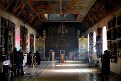Église orthodoxe russe à Bakou, intérieur Image stock