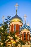 Église orthodoxe russe en l'honneur de St George dans la région de Kaluga (Russie) photographie stock