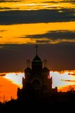 Église orthodoxe russe en l'honneur de St George dans la région de Kaluga (Russie) images libres de droits