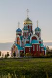 Église orthodoxe russe en l'honneur de St George dans la région de Kaluga (Russie) photo stock